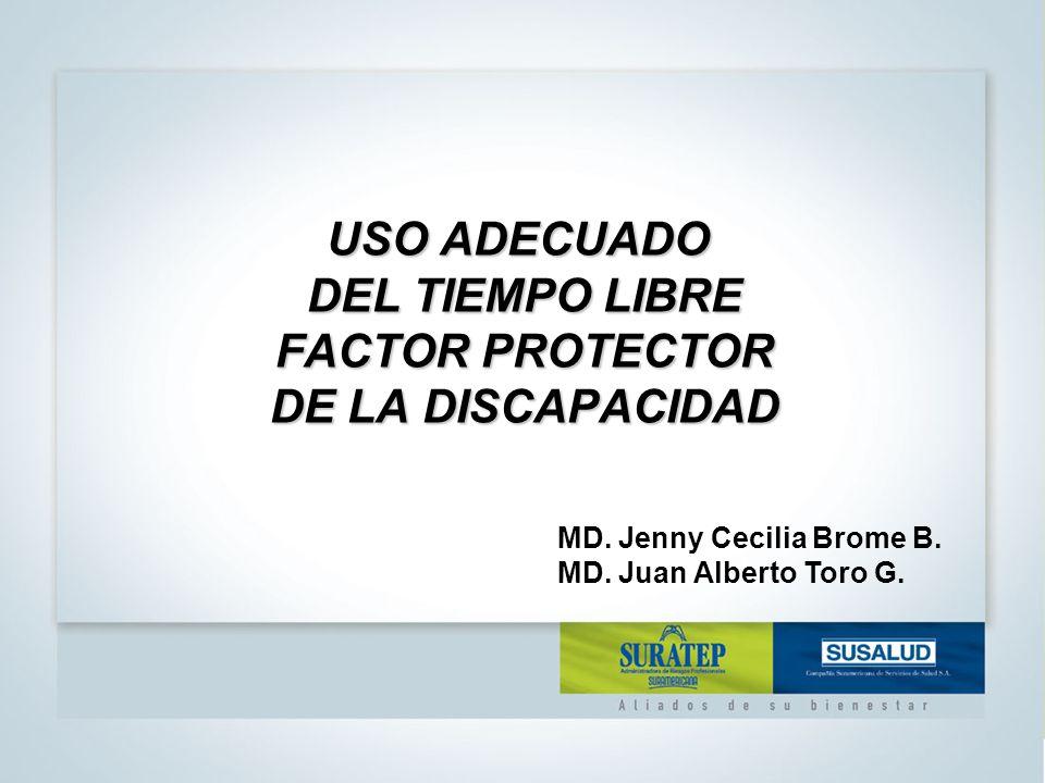 USO ADECUADO DEL TIEMPO LIBRE FACTOR PROTECTOR DE LA DISCAPACIDAD MD.