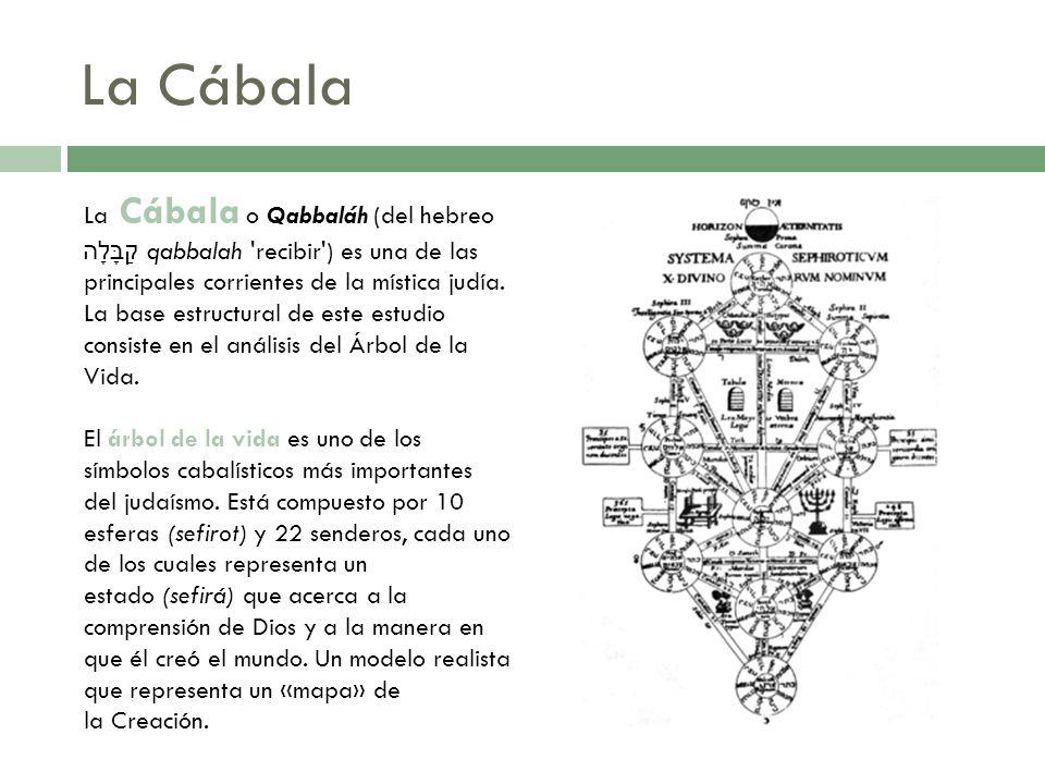 La Cábala La Cábala o Qabbaláh (del hebreo קַבָּלָה qabbalah 'recibir') es una de las principales corrientes de la mística judía. La base estructural