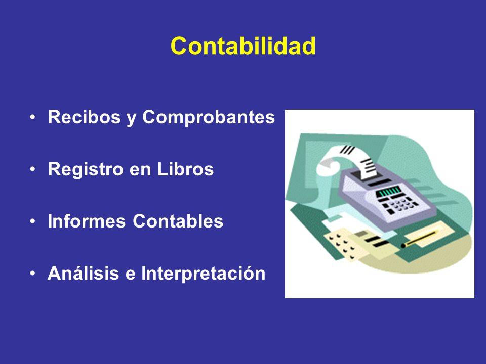 Contabilidad Recibos y Comprobantes Registro en Libros Informes Contables Análisis e Interpretación