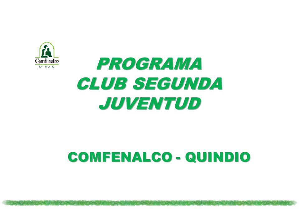 PROGRAMA CLUB SEGUNDA JUVENTUD COMFENALCO - QUINDIO