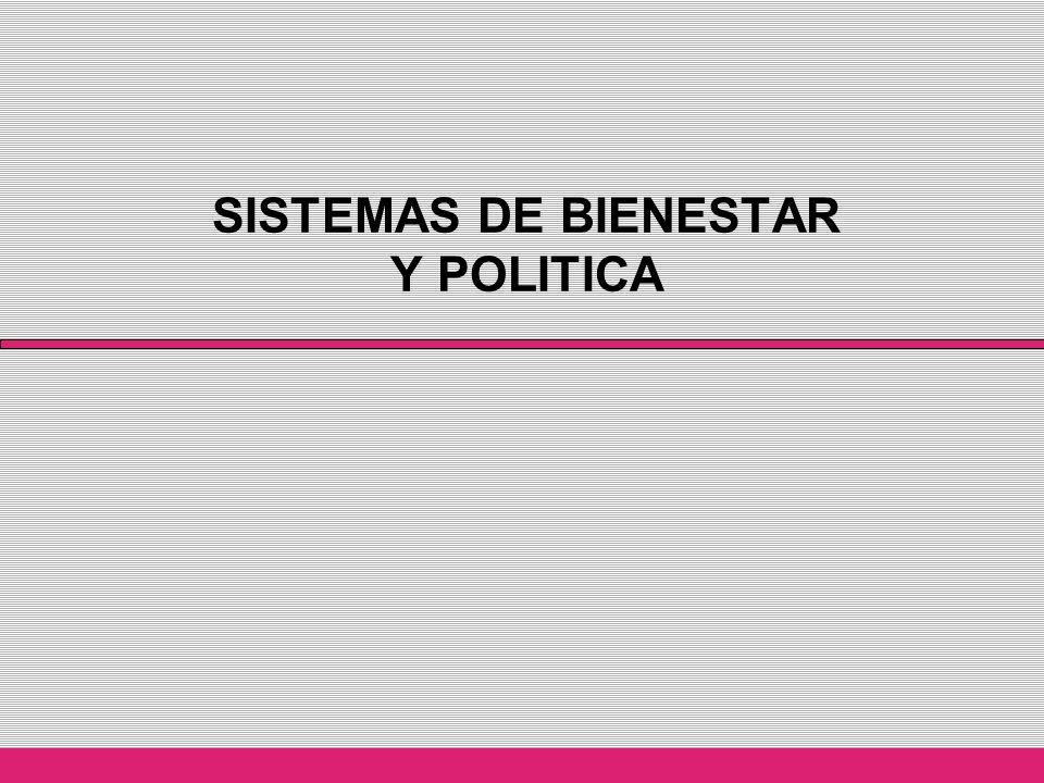 TRES HIPOTESIS A CONSIDERAR… Un apropiado sistema de bienestar requiere de un entorno político que facilite el cómo se gestiona y el para qué se interviene.