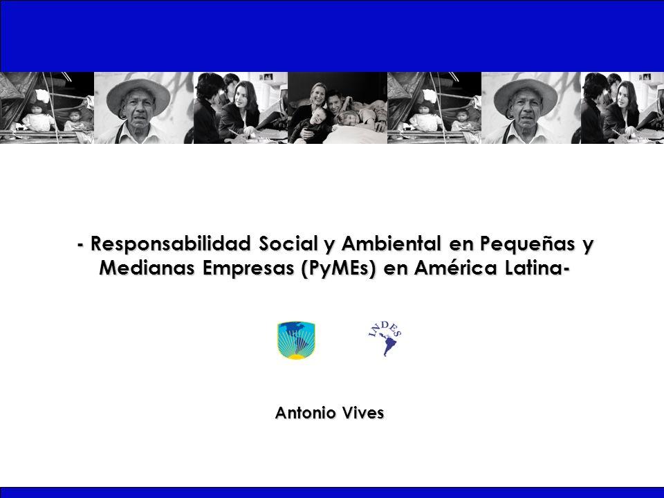 - Responsabilidad Social y Ambiental en Pequeñas y Medianas Empresas (PyMEs) en América Latina- Antonio Vives