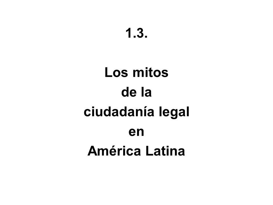 1.3. Los mitos de la ciudadanía legal en América Latina