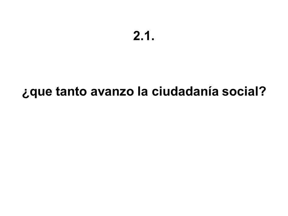 2.1. ¿que tanto avanzo la ciudadanía social?