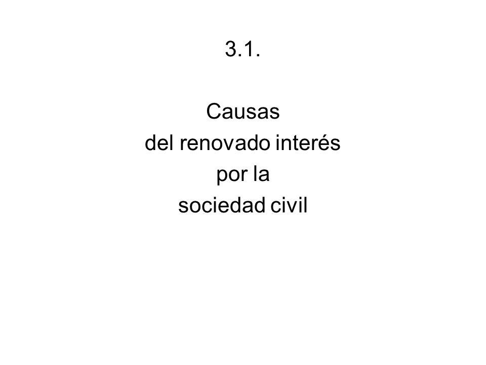 3.1. Causas del renovado interés por la sociedad civil