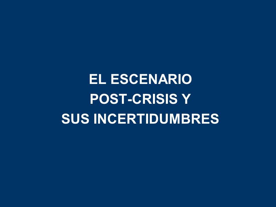 EL ESCENARIO POST-CRISIS Y SUS INCERTIDUMBRES