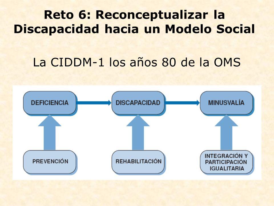 La CIDDM-1 los años 80 de la OMS Reto 6: Reconceptualizar la Discapacidad hacia un Modelo Social