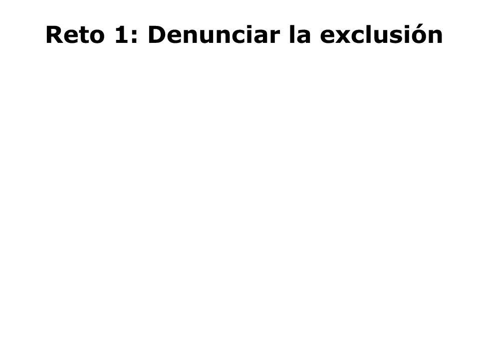 Reto 1: Denunciar la exclusión