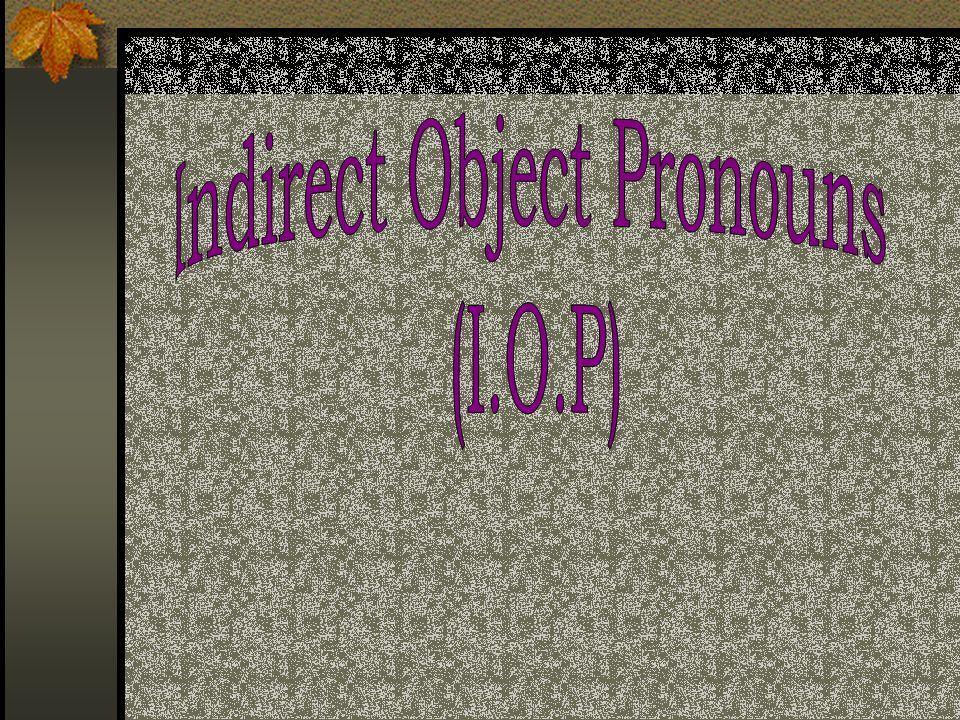 Gramática: En inglés Direct object Mary is writing (a letter) to John.