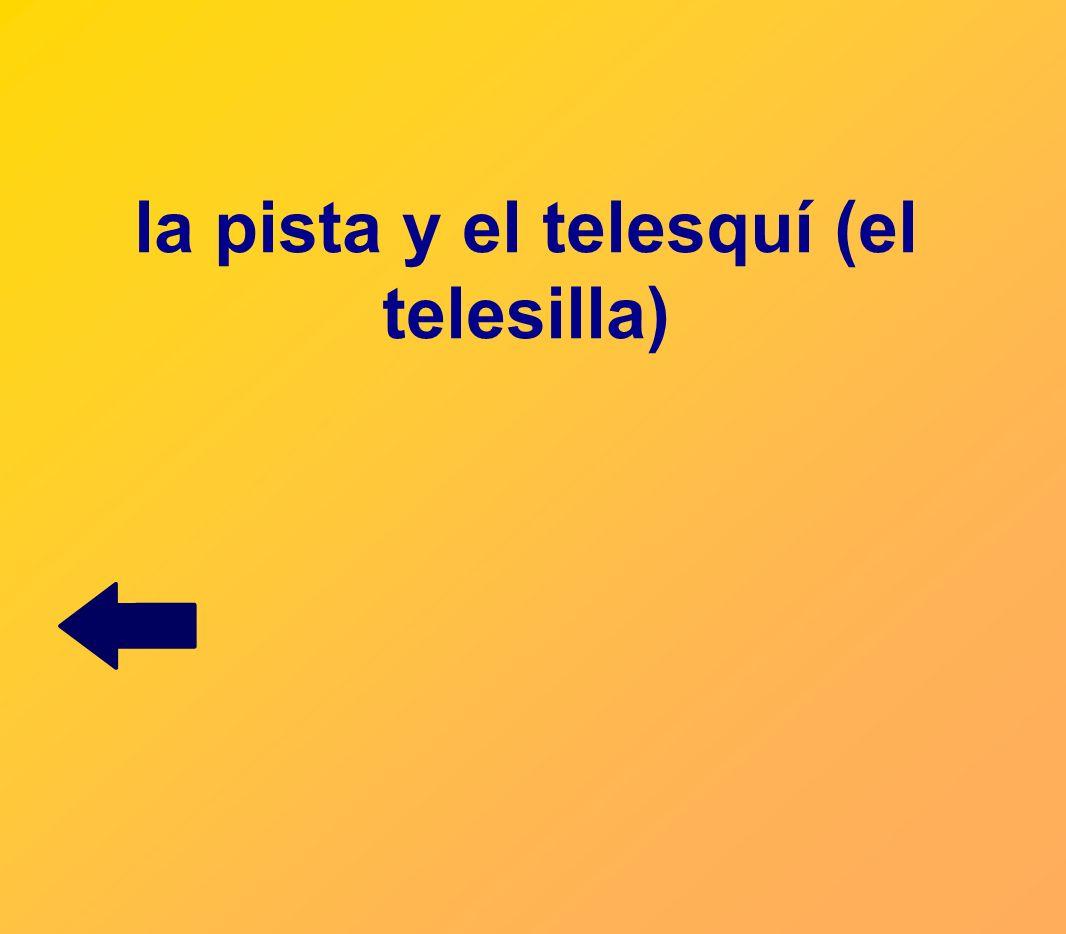 la pista y el telesquí (el telesilla)