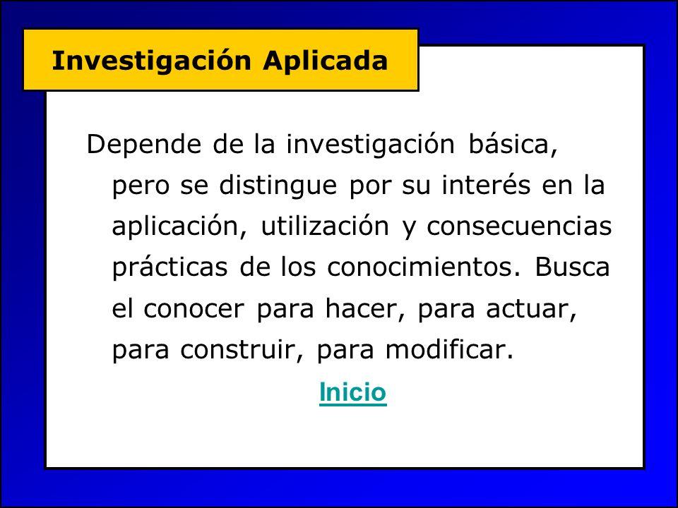Investigación de Temas Se debería investigar: Temas ya investigados, estructurados y formalizados.