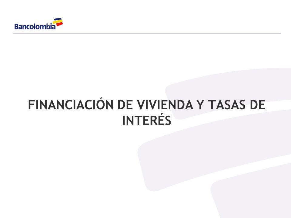 FINANCIACIÓN DE VIVIENDA Y TASAS DE INTERÉS