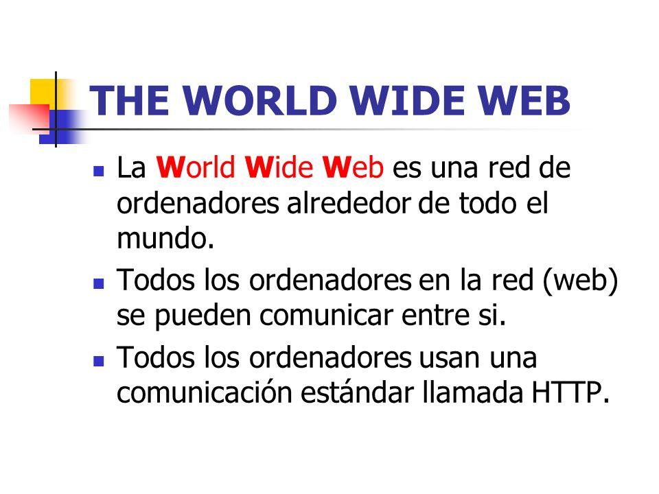 ¿cómo funciona la WWW.La información web está almacenada en documentos llamados páginas web.