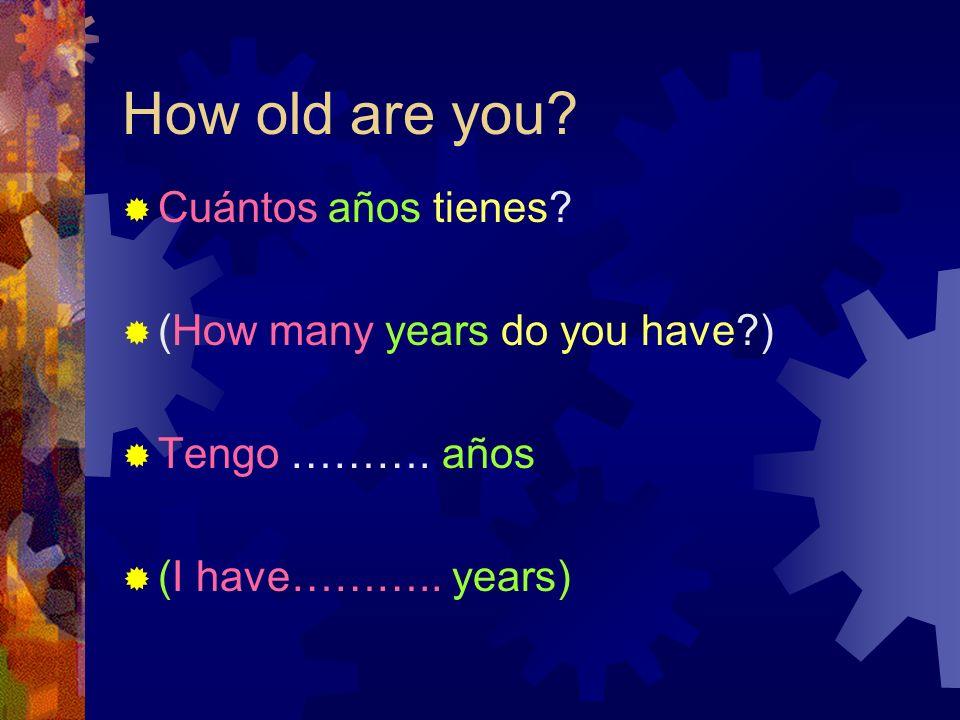 When is your birthday? Cuándo es tu cumpleaños? When is your birthday?