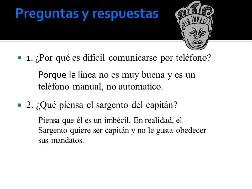 1.¿Por qué es difícil comunicarse por teléfono. 2.