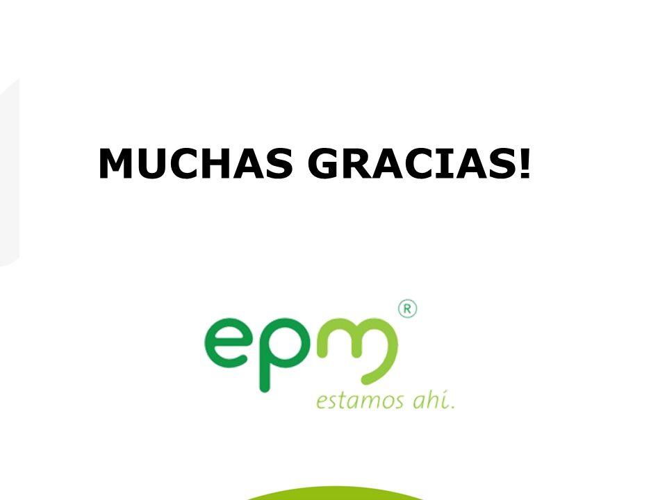 Empresas Públicas de Medellín E.S.P. MUCHAS GRACIAS!