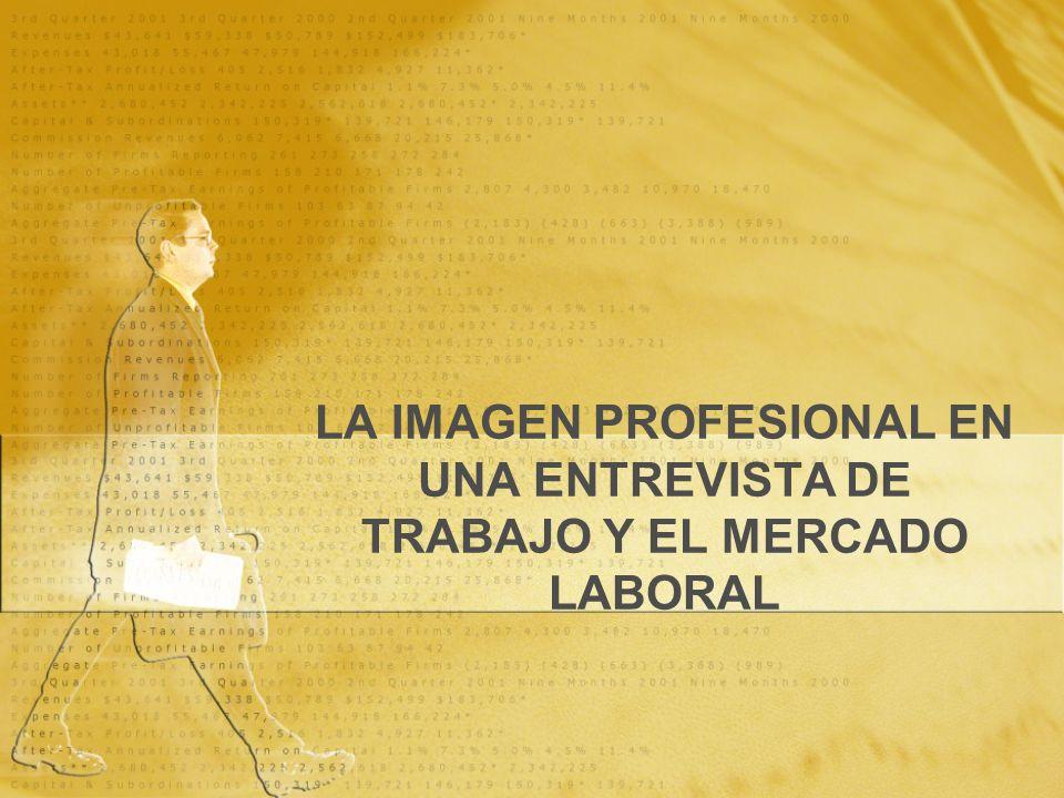 LA IMAGEN PROFESIONAL EN UNA ENTREVISTA DE TRABAJO Y EL MERCADO LABORAL