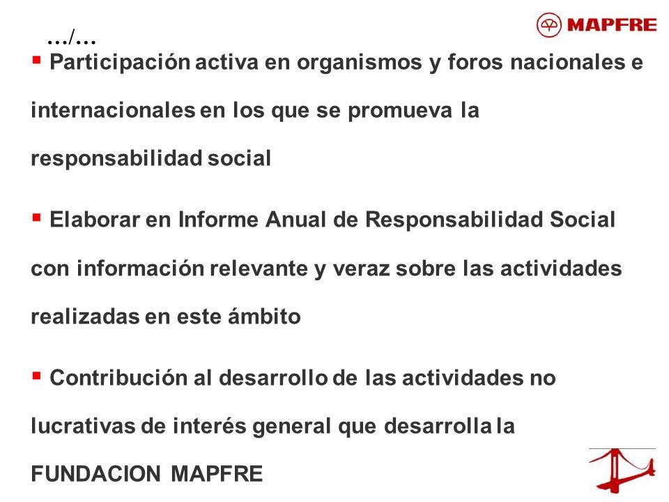 Participación activa en organismos y foros nacionales e internacionales en los que se promueva la responsabilidad social Elaborar en Informe Anual de