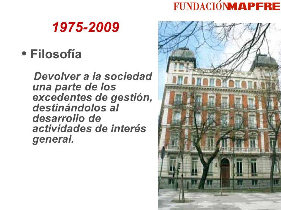 Filosofía Devolver a la sociedad una parte de los excedentes de gestión, destinándolos al desarrollo de actividades de interés general. 1975-2009