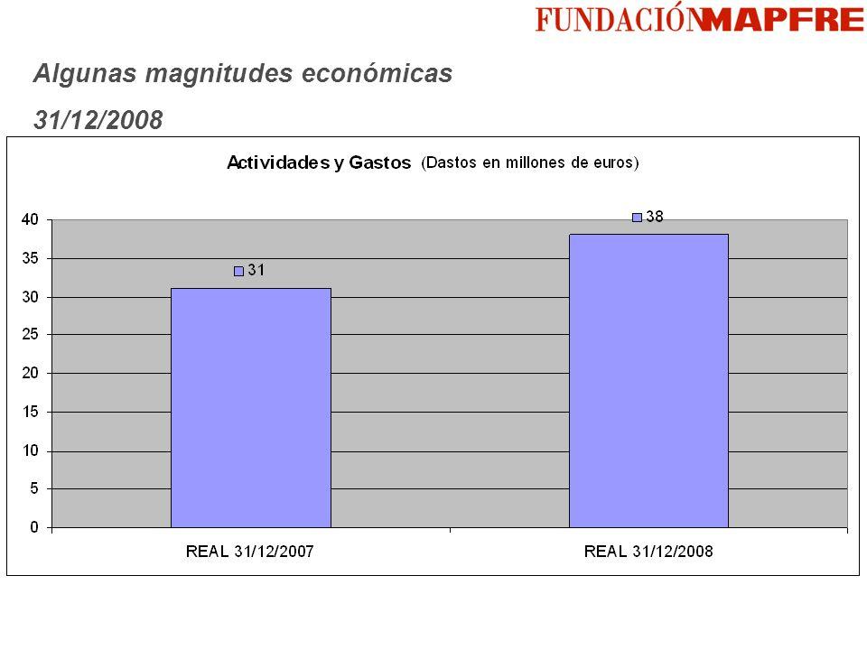 Algunas magnitudes económicas 31/12/2008