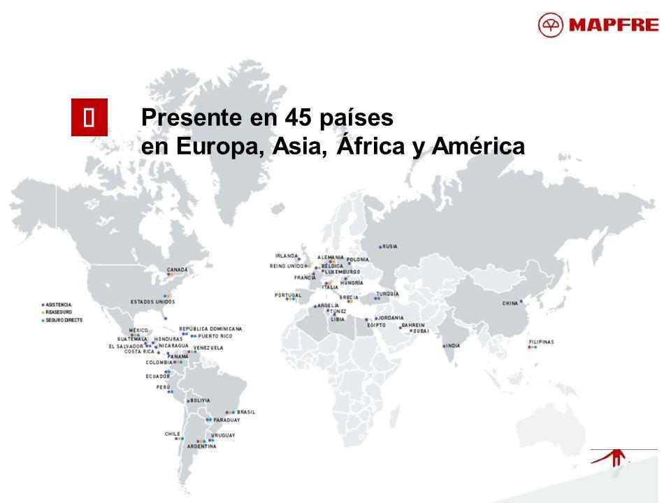 Presente en 45 países en Europa, Asia, África y América