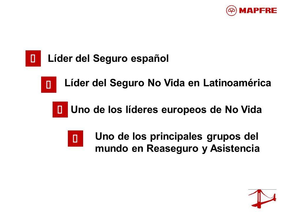 Líder del Seguro español Uno de los principales grupos del mundo en Reaseguro y Asistencia Líder del Seguro No Vida en Latinoamérica Uno de los lídere