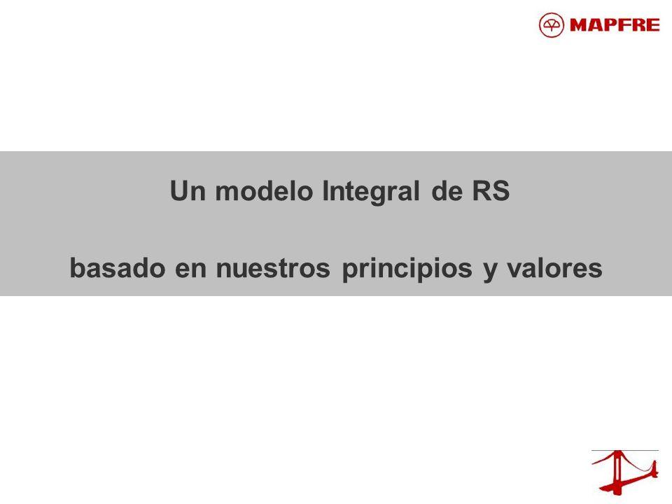 Un modelo Integral de RS basado en nuestros principios y valores