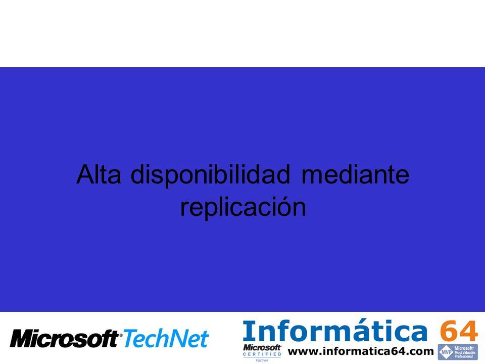 Alta disponibilidad mediante replicación