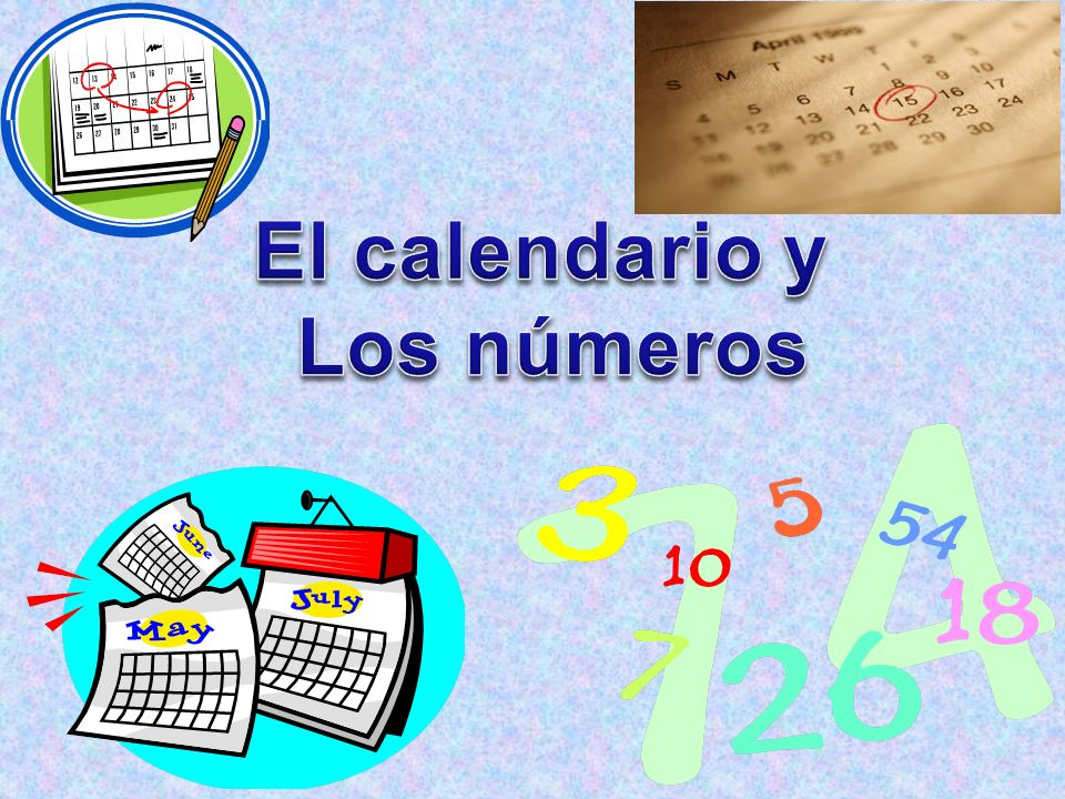 In your Viva on the contenido page, write: El calendario y los númerospágina dos Remember to use different colors when writing vocabulary and on your contenido page.** Everything on slides 3-6 should be on p.