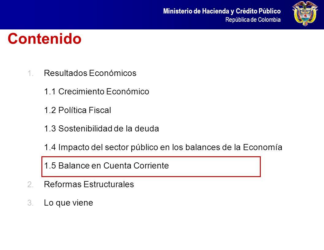 Ministerio de Hacienda y Crédito Público República de Colombia ¿Qué pasó en los balances y en los mercados financieros en 2005 – 2007? Incremento en e