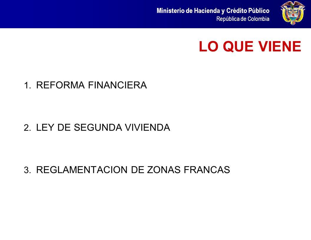 Ministerio de Hacienda y Crédito Público República de Colombia Contenido 1. Resultados Económicos 1.1 Crecimiento Económico 1.2 Política Fiscal 1.3 So