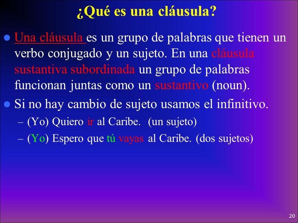 19 Te sugiero que estudies mucho para la clase de español. Sugerencias