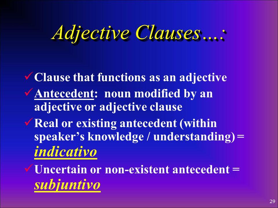 28 Adjective Clauses Las Cláusulas Adjetivales