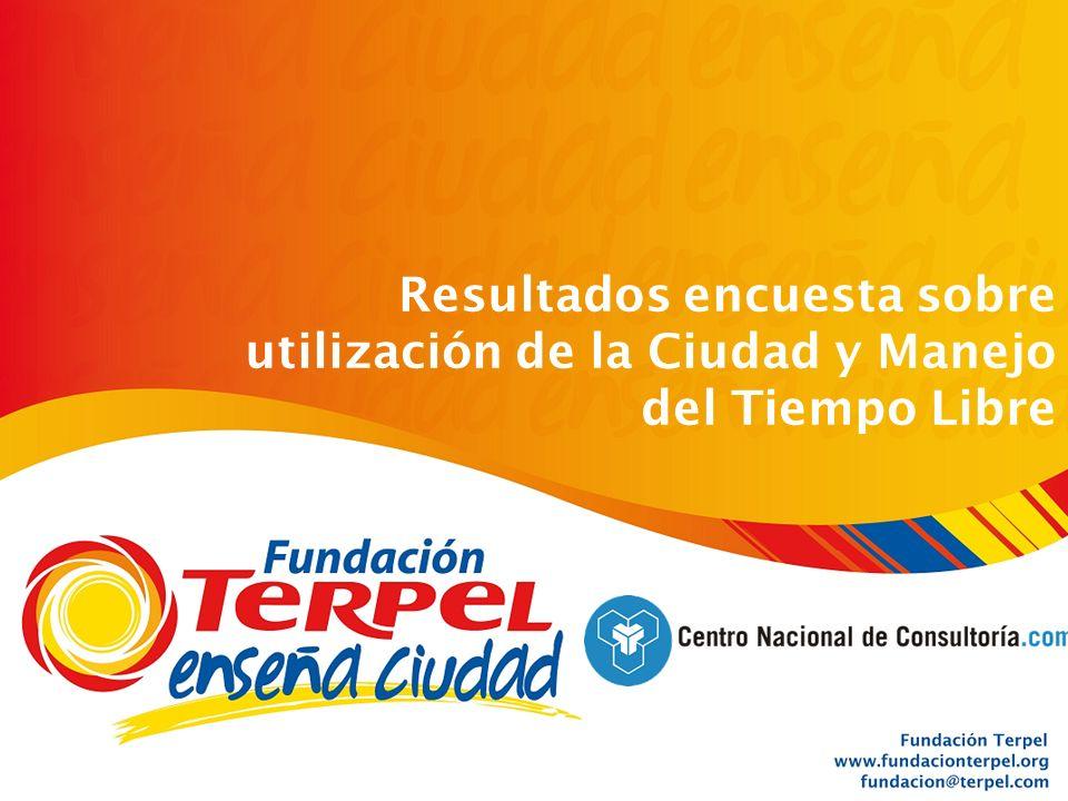 Fundación Terpel Operación en 6 ciudades Octubre_2006 Resultados encuesta sobre utilización de la Ciudad y Manejo del Tiempo Libre