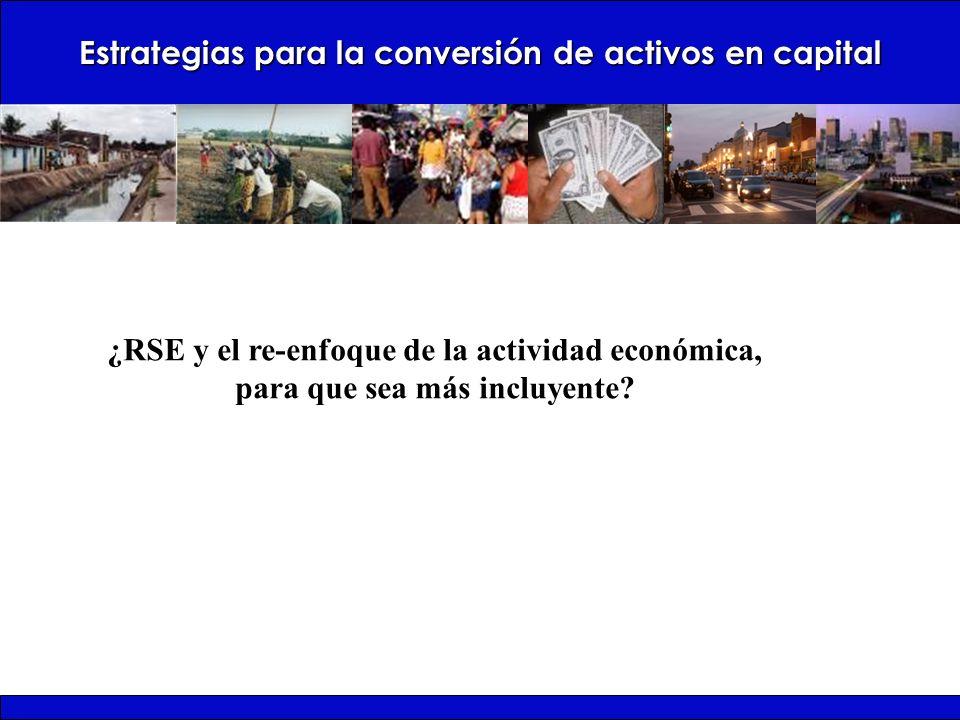 Estrategias para la conversión de activos en capital ¿RSE y el re-enfoque de la actividad económica, para que sea más incluyente?