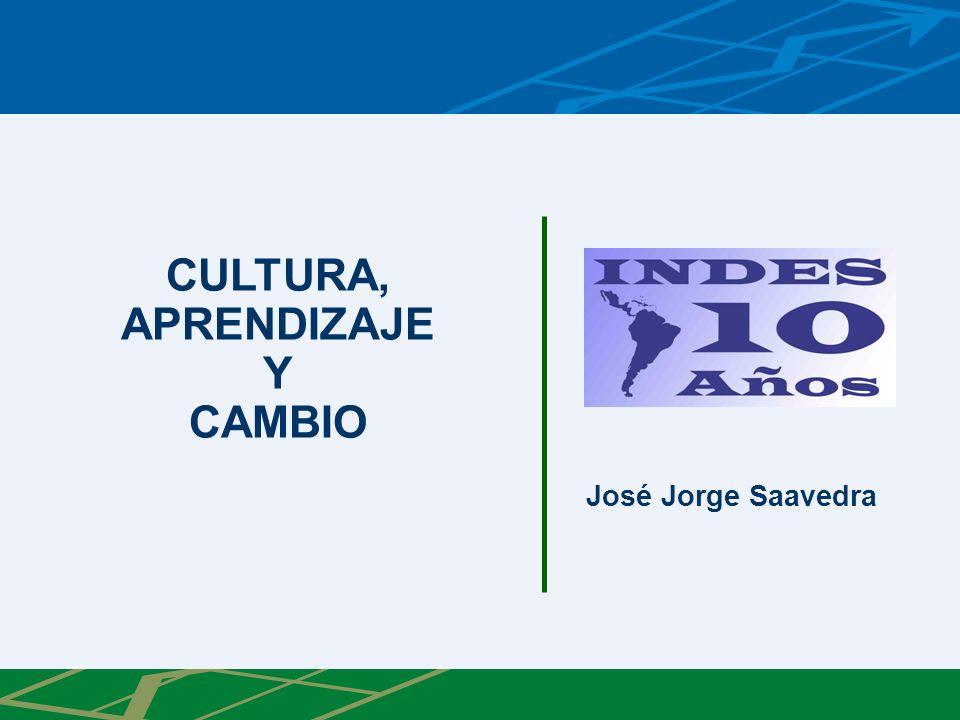 CULTURA, APRENDIZAJE Y CAMBIO José Jorge Saavedra