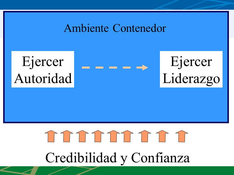 Ejercer Autoridad Ejercer Liderazgo Credibilidad y Confianza Ambiente Contenedor