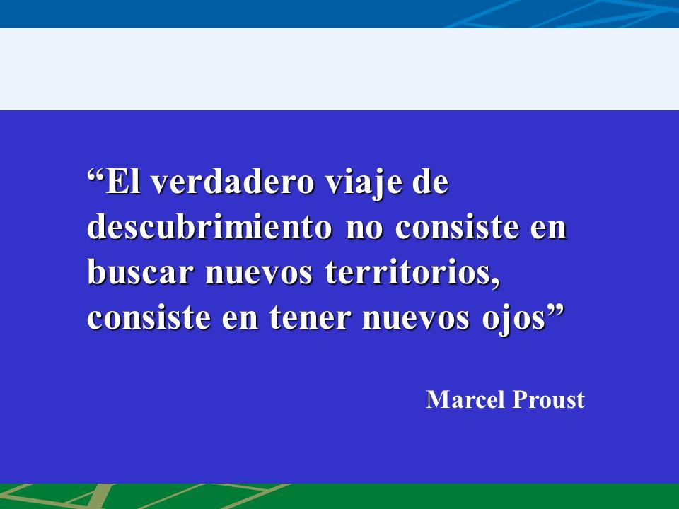 El verdadero viaje de descubrimiento no consiste en buscar nuevos territorios, consiste en tener nuevos ojosEl verdadero viaje de descubrimiento no consiste en buscar nuevos territorios, consiste en tener nuevos ojos Marcel Proust