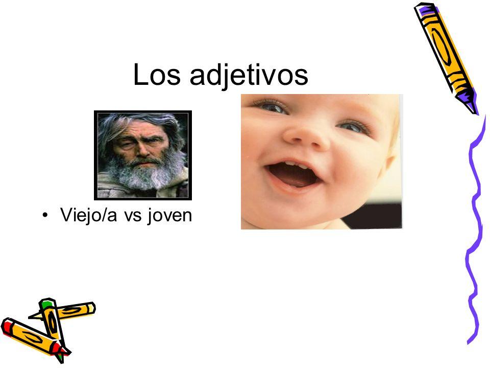 Los adjetivos Viejo/a vs joven