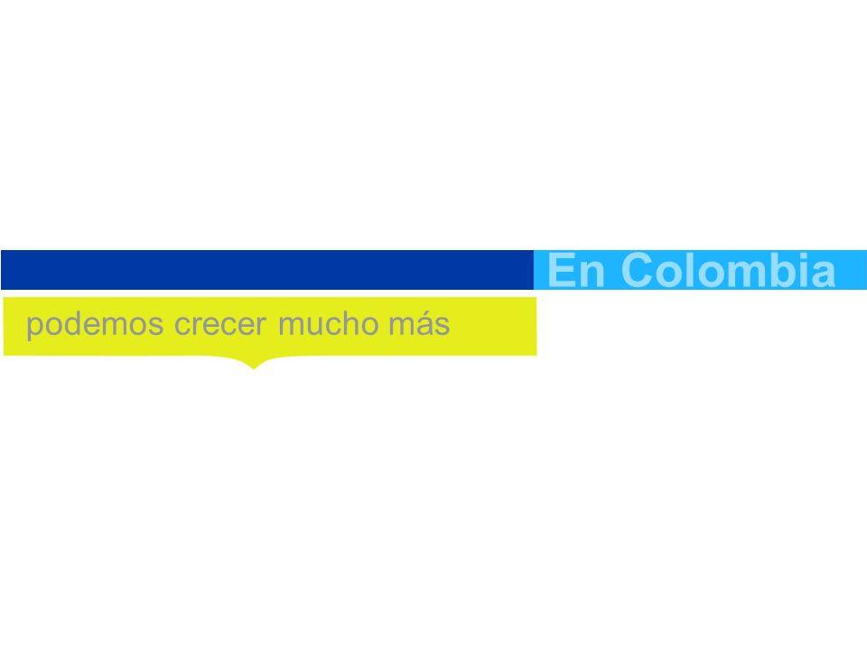 18.2% En Colombia podemos crecer mucho más