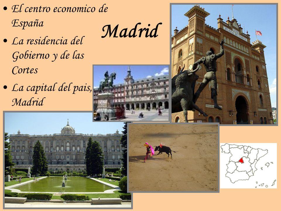 Madrid El centro economico de España La residencia del Gobierno y de las Cortes La capital del pais, Madrid