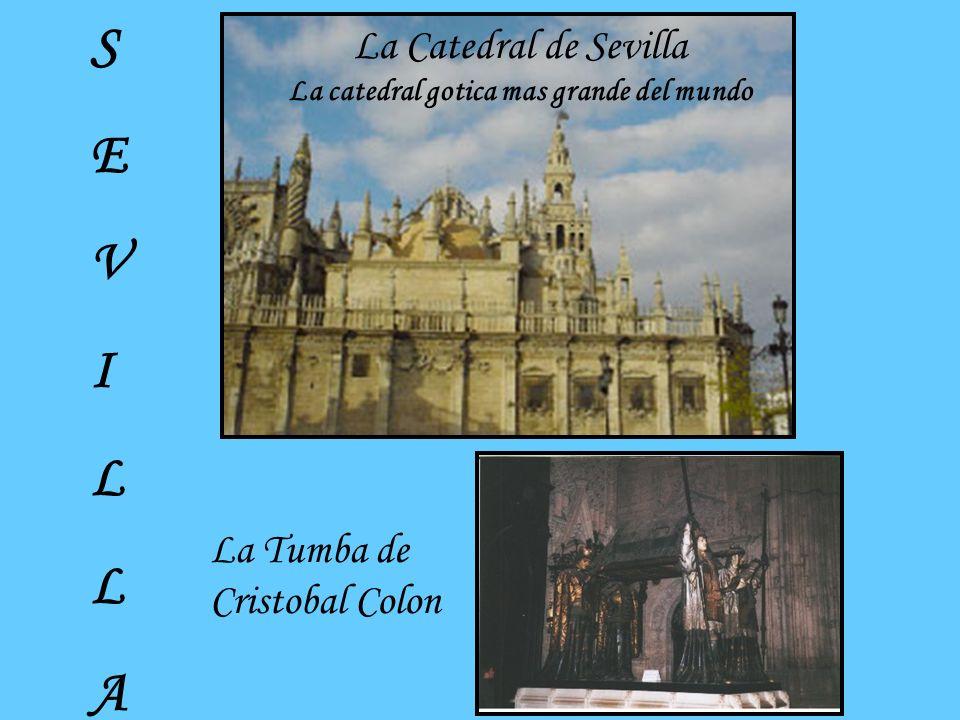 La Tumba de Cristobal Colon La Catedral de Sevilla La catedral gotica mas grande del mundo SEVILLASEVILLA