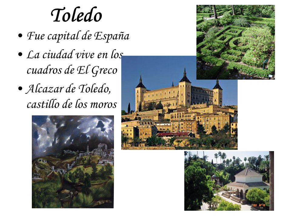 Toledo Fue capital de España La ciudad vive en los cuadros de El Greco Alcazar de Toledo, castillo de los moros