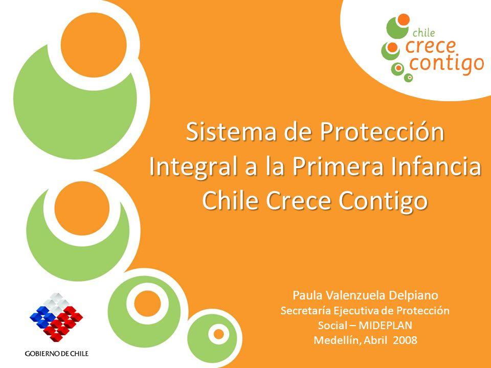 Protección Integral a la Infancia Sistema de Protección Integral a la Primera Infancia Chile Crece Contigo Paula Valenzuela Delpiano Secretaría Ejecut