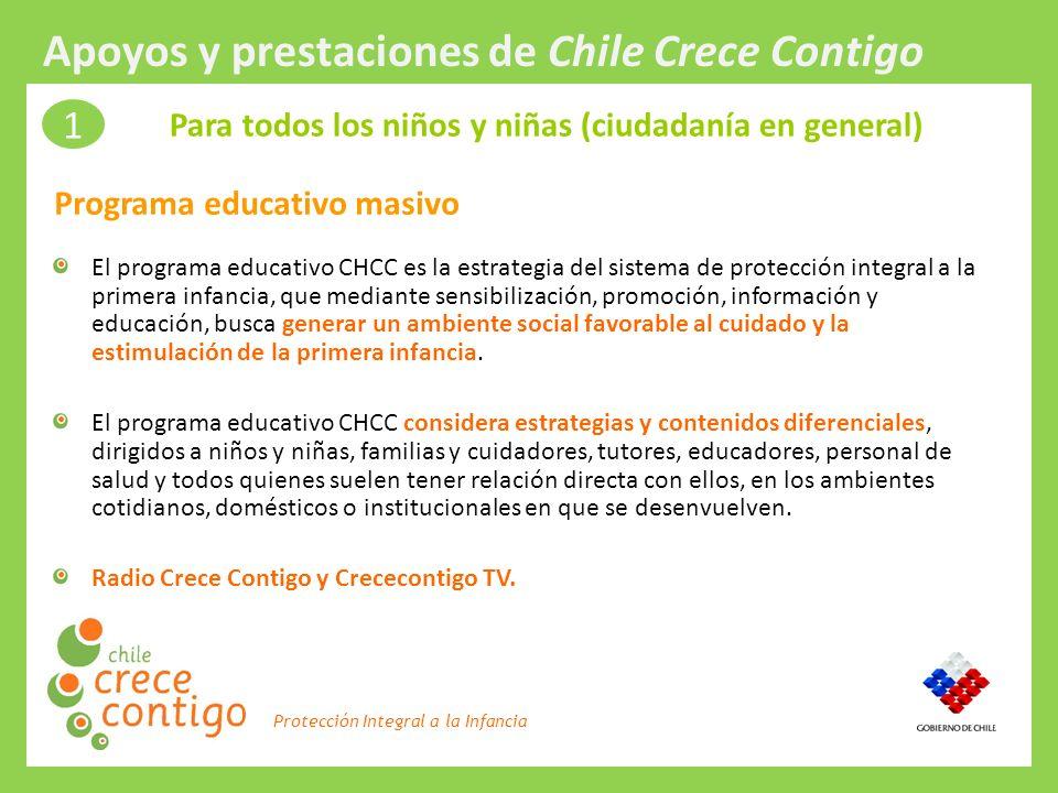 Protección Integral a la Infancia El programa educativo CHCC es la estrategia del sistema de protección integral a la primera infancia, que mediante s