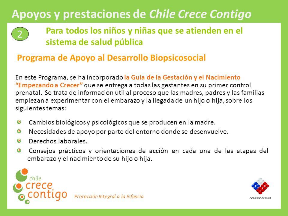 Protección Integral a la Infancia En este Programa, se ha incorporado la Guía de la Gestación y el Nacimiento Empezando a Crecer que se entrega a toda