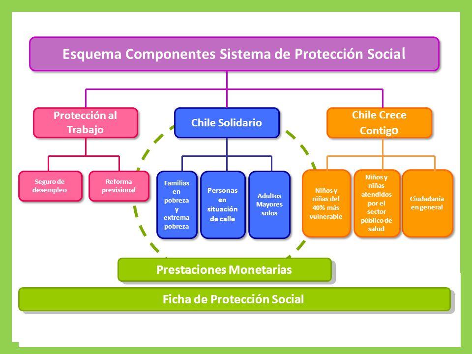 Protección Integral a la Infancia Esquema Componentes Sistema de Protección Socia l Chile Crece Contig o Ciudadanía en general Niños y niñas del 40% m