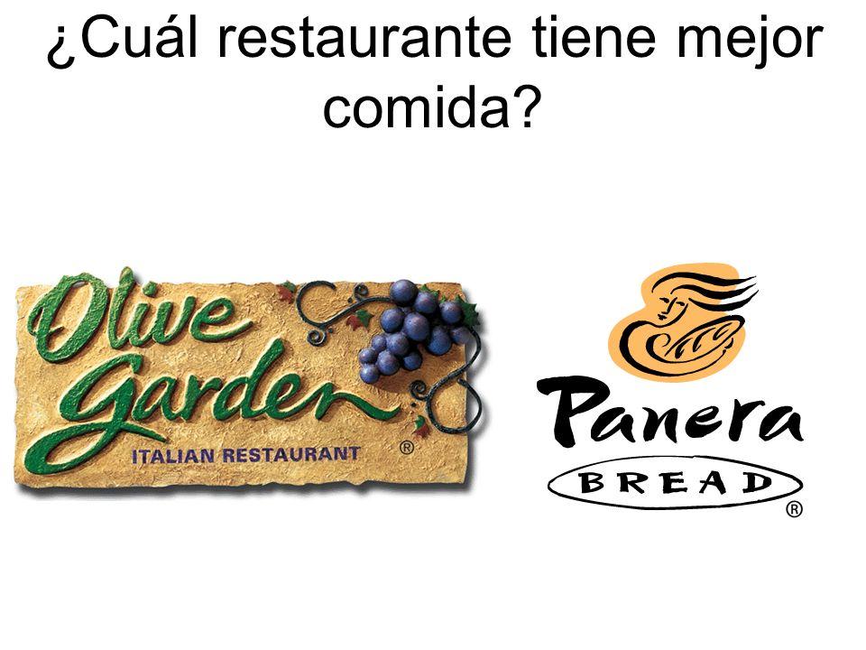 ¿Cuál restaurante tiene mejor comida?