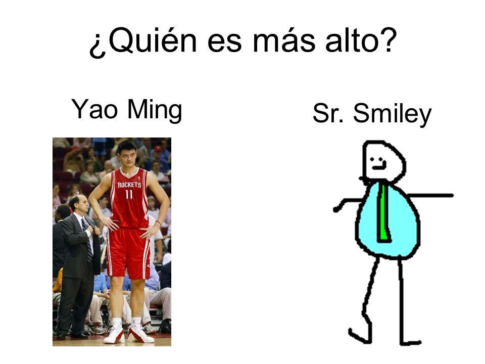 ¿Quién es más alto? Yao Ming Sr. Smiley