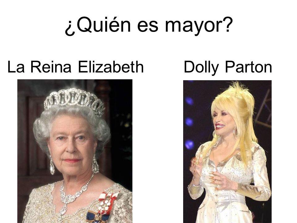 ¿Quién es mayor? La Reina ElizabethDolly Parton